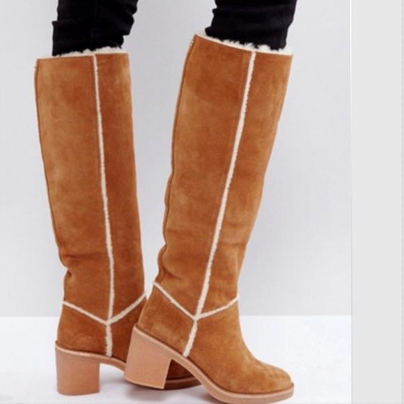 cac132cca53 UGG Kasen Tall Boots Chestnut Size 11 NIB
